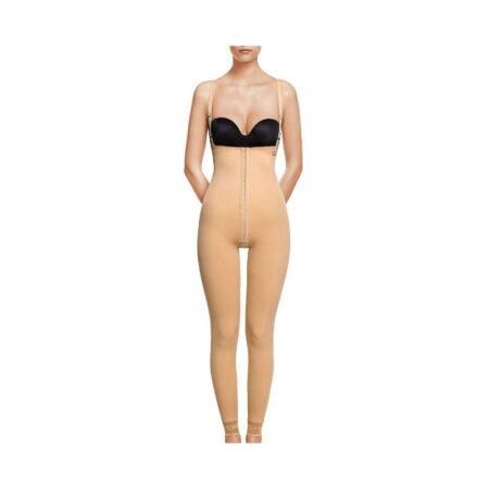 faja voe post liposuccion desde tobillos y abdomen con corchetes