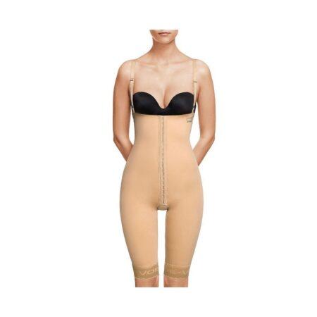 faja voe post liposuccion por encima de rodillas y abdomen con corchetes