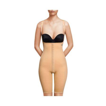 faja voe post liposuccion por encima de rodillas y abdomen con refuerzos y cierre de corchetes