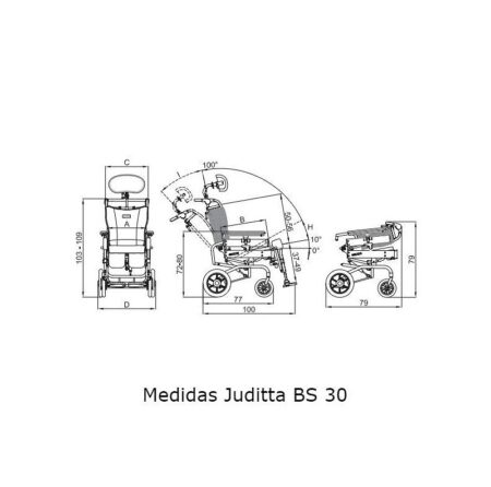 silla basculante juditta bs30 para exteriores ruedas no autopropulsables 2