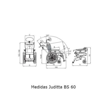 silla basculante juditta bs60 para exteriores ruedas autopropulsables 2