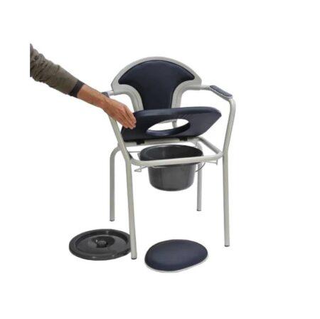 silla inodoro con tapa y reposabrazos pvc 1
