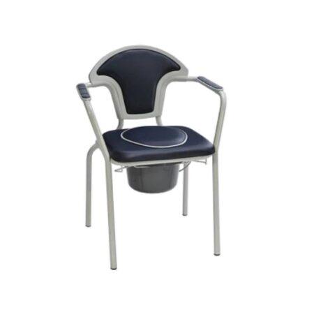silla inodoro con tapa y reposabrazos pvc 2
